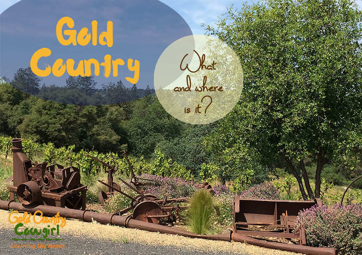 Old mining equipment in Gold Country