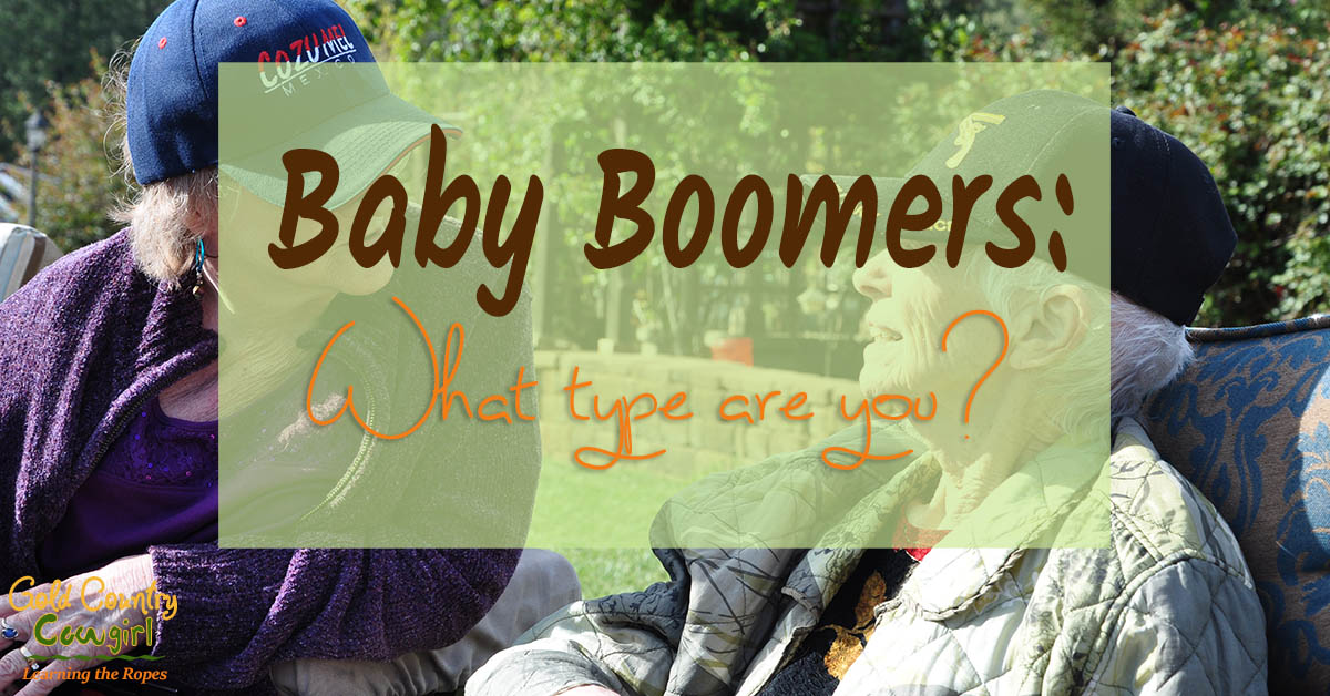 Baby boomers seem to fall into one of two categories. Either you have decided to live or you have decided to begin dying. Whoa, what do I mean by that?