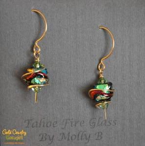 Earrings from Molly B. of Tahoe Fire Glass