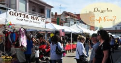 Main Street in Jackson, CA, for Dandelion Days event with craft fair