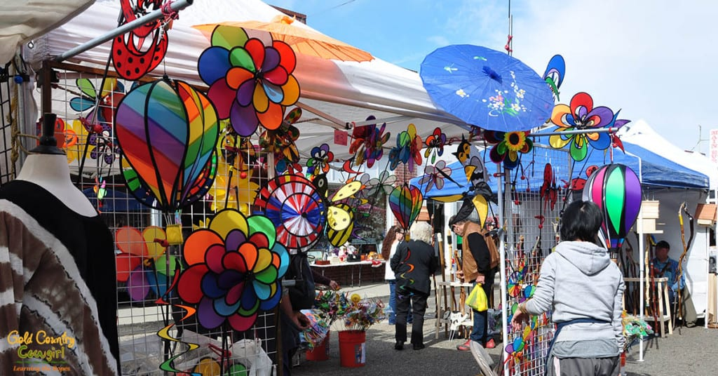 Colorful lawn and yard art at Dandelion Days
