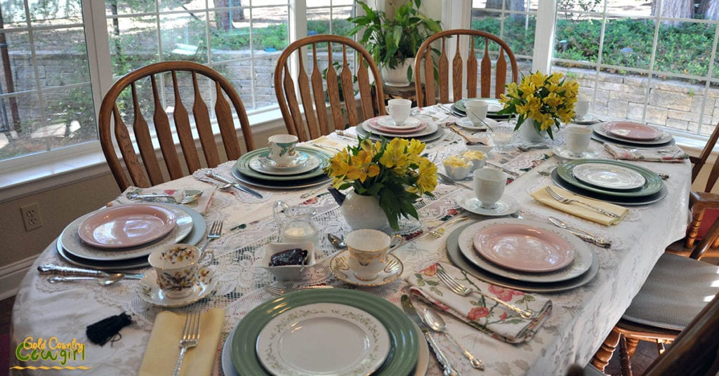 Lg table set for tea party
