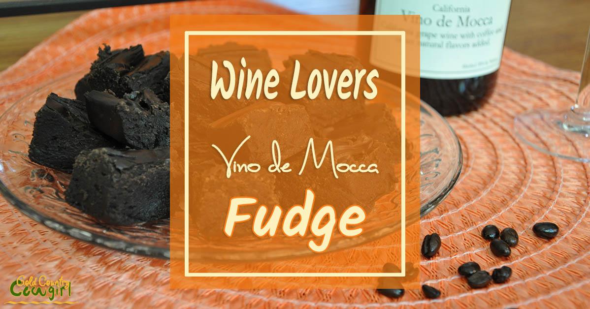 Wine Lovers Vino de Mocca Fudge Recipe