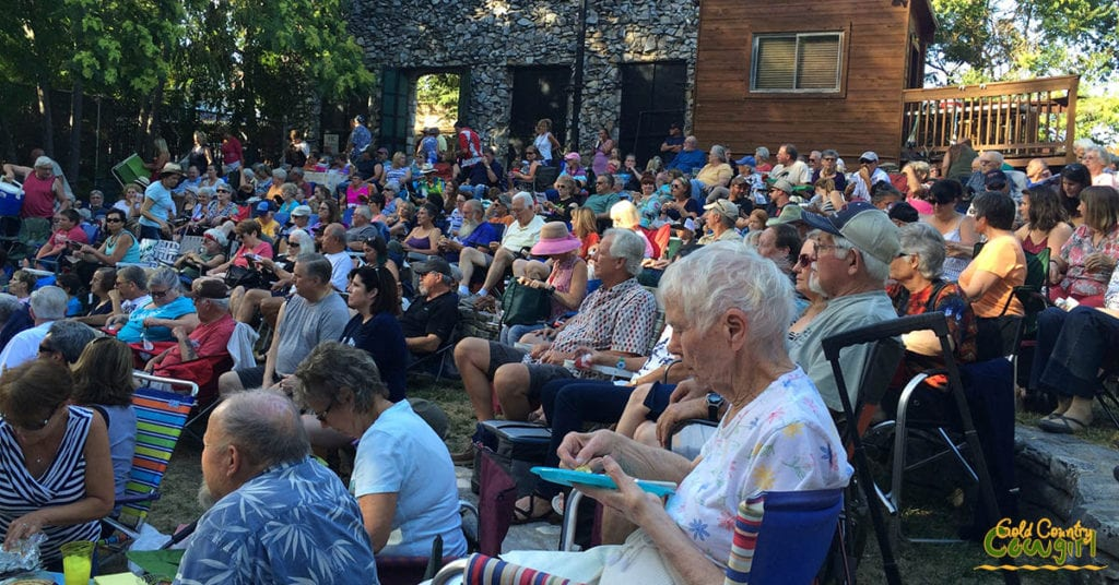 view of the crowd at a TGIF Summer Concert at the Volcano Amphitheater