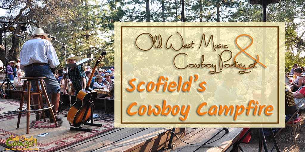 View of crowd from stage at Scofield's Cowboy Campfire - Experience the old American West at Scofield's Cowboy Campfire in Fiddletown, CA, with a chuck wagon dinner and cowboy music from world-renowned performers.