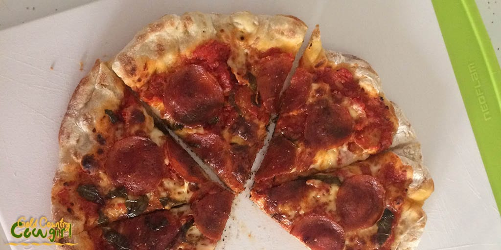 Baking Pizza - stovetop finished under the broiler