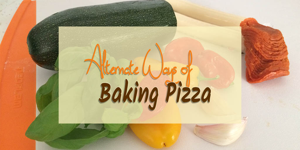 Ever since I got to make pizza in a wood-fired oven I've been craving it. I didn't want to turn on the oven so I researched alternate ways of baking pizza.