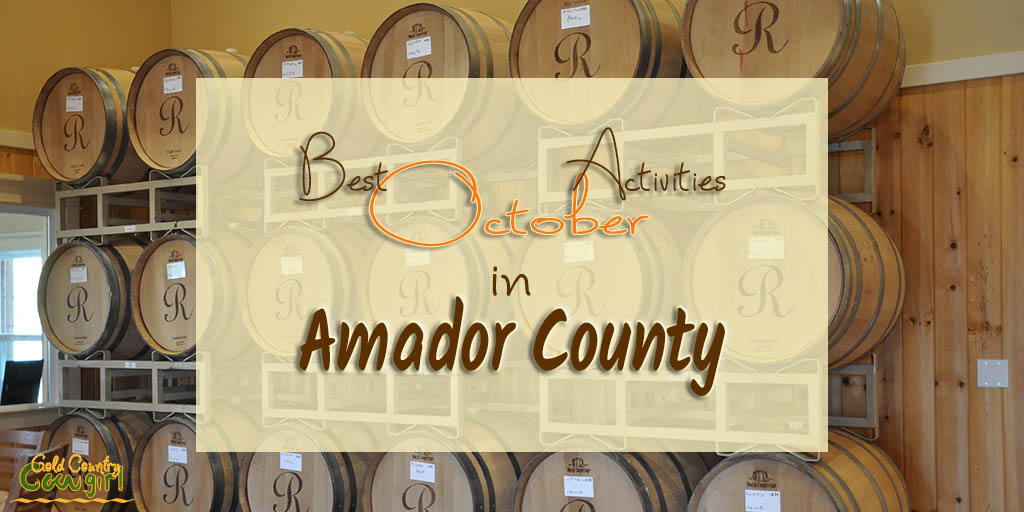 With summer activities winding down, there is still so much to do that it is hard to choose. Here's my list of best Amador County October Activities.