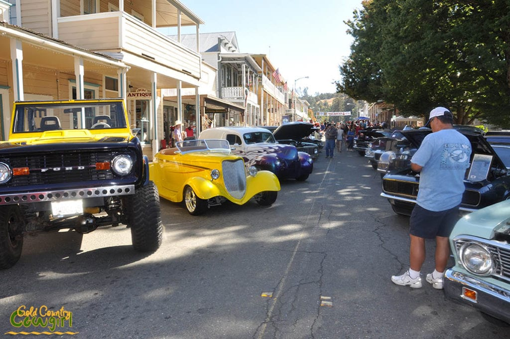 Classic cars at Great Sutter Creek Chili Cook-off and Car Show
