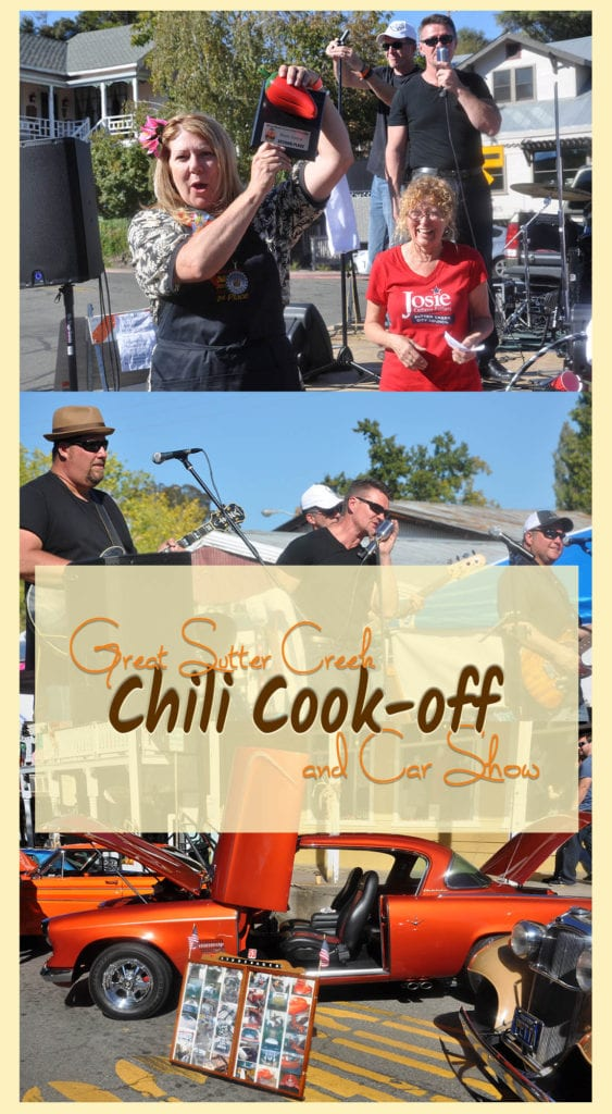 The Saucy Sisters had stiff competition at the 2016 Great Sutter Creek Chili Cook-off and Car Show. Do you think we won again this year?