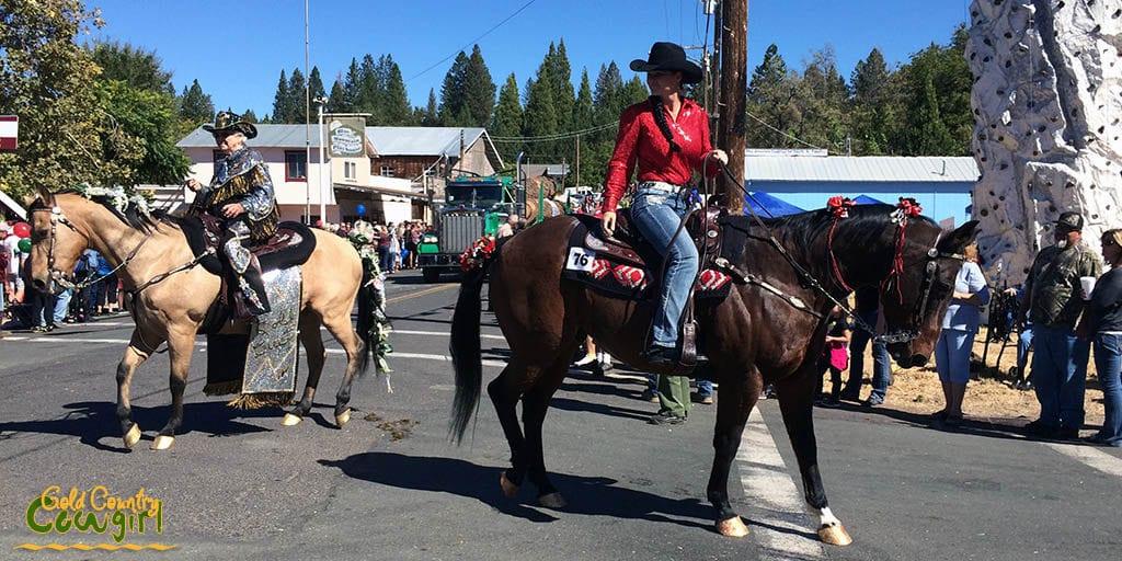 Horses in Lumberjack day parade