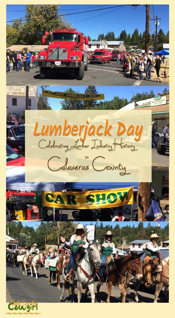 Lumberjack Day, held the first Saturday in October, is a day-long celebration of the history and traditions of the logging industry in Calaveras County.