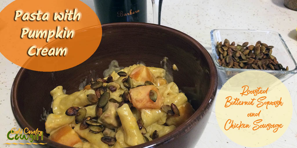 Pasta with Pumpkin Cream - Not Just for Fall!