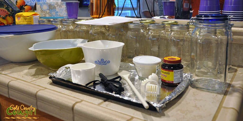 Ready to make our sourdough starter
