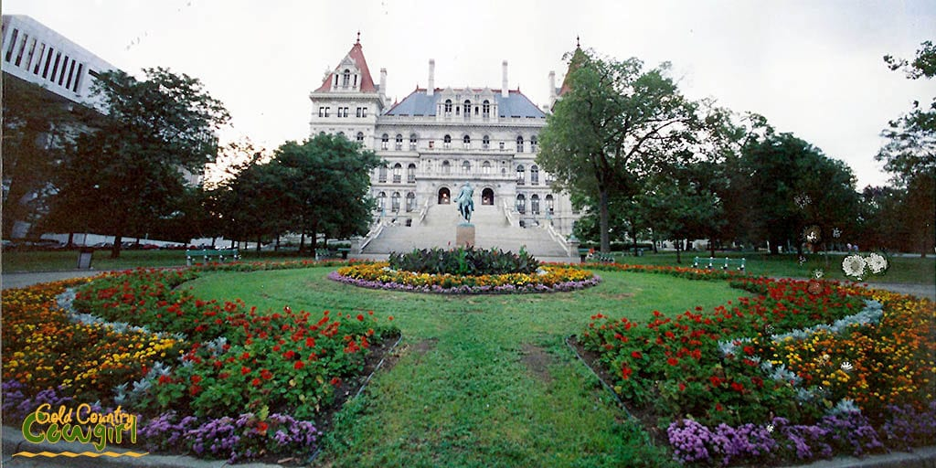 Albany, New York state capital building