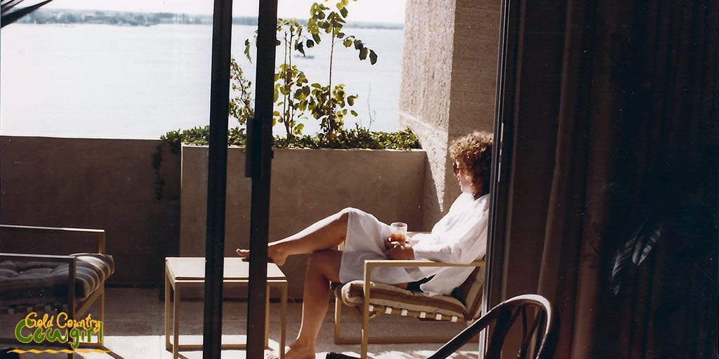 Beautiful view from hotel patio in Cancun, Mexico 1983. Women Traveling Alone -- Are You One of Them?