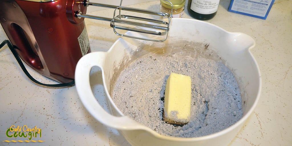 First four microwave fudge ingredients