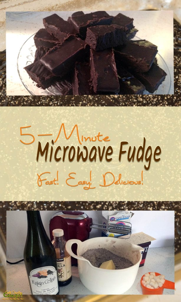 Here is the microwave version of my Vino de Mocca fudge as promised. I think you'll love this quick and super easy microwave fudge. Make it with or without alcohol. #fudge #microwavefudge
