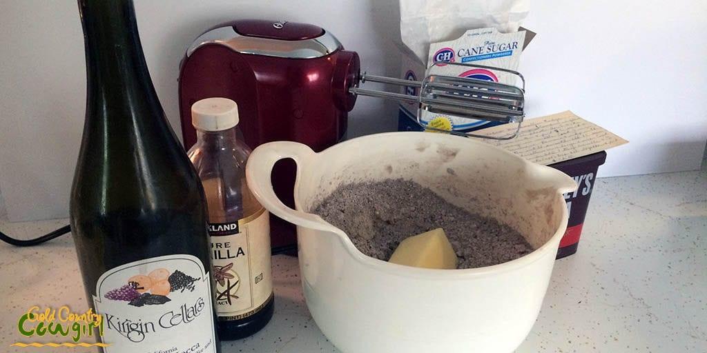 Microwave fudge ingredients