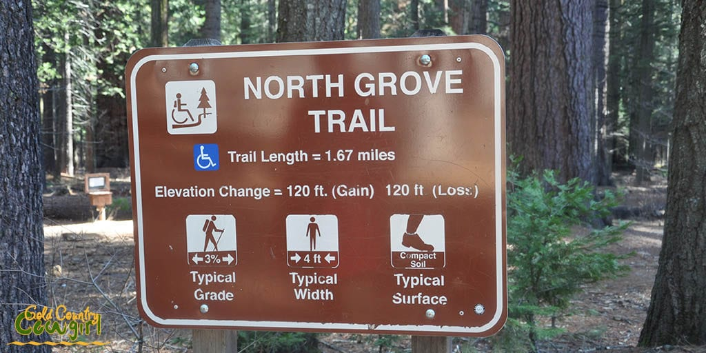 North Grove Trail sign
