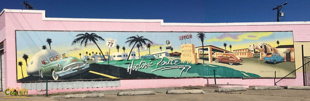 Historic Route 77 Mural Harlingen
