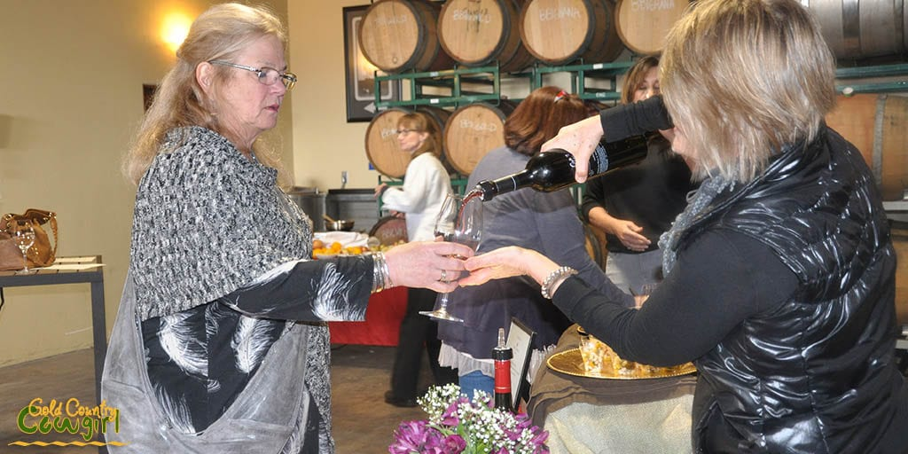 Pouring Mountain Selection Zinfandel for Pam