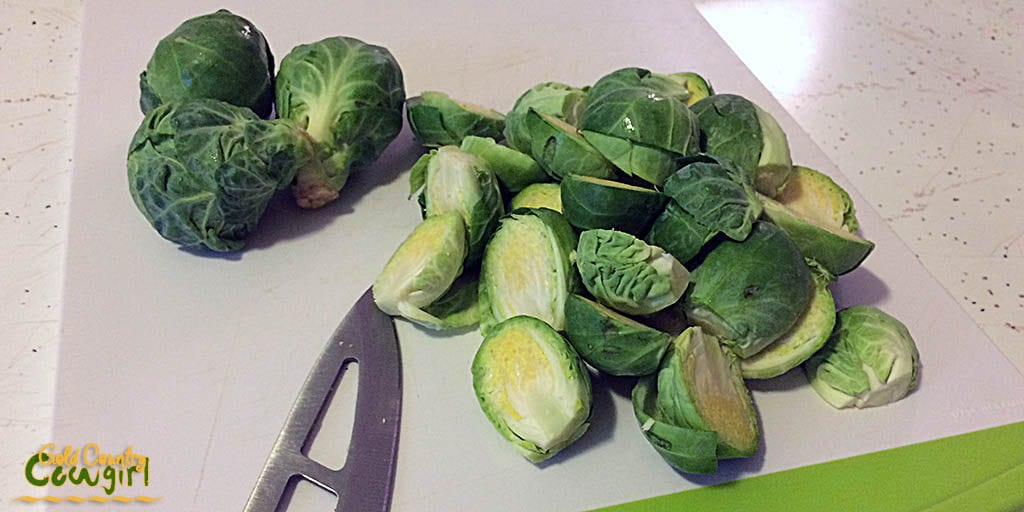 Prepped Brussels sprouts