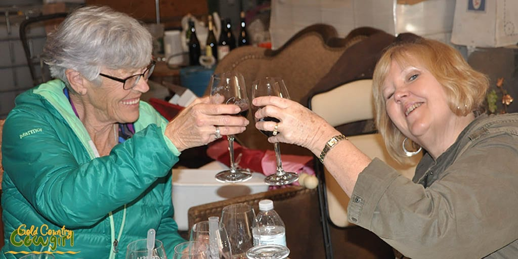 Judi and Sue toasting their perfect blends
