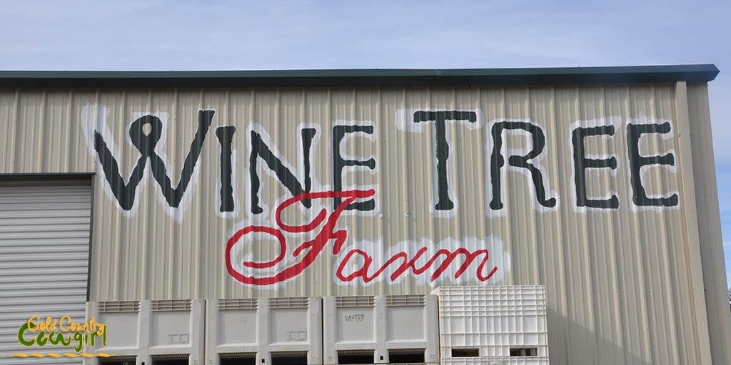 Wine Tree Farm sign