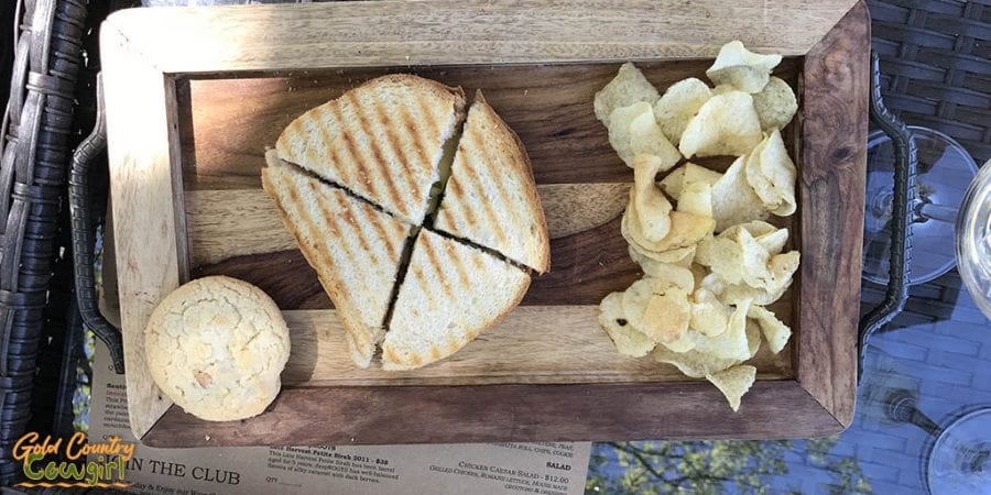 Sentivo Vineyards Prosciutto & Pear Panini