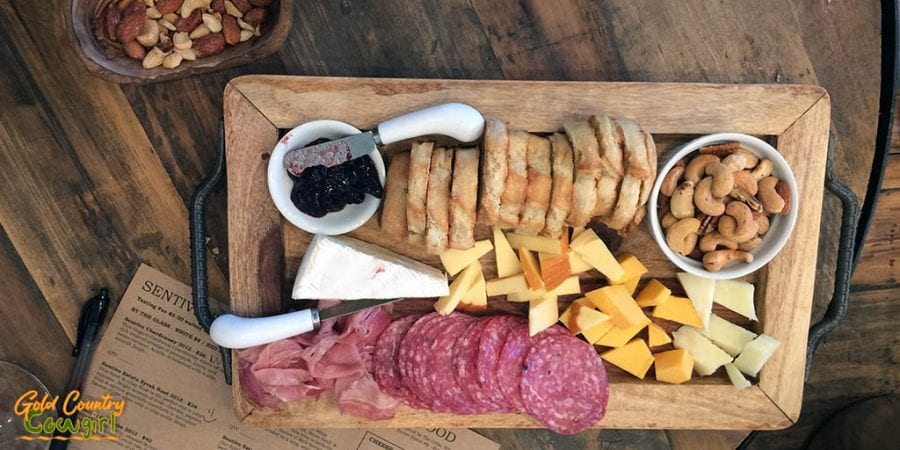 Sentivo Vineyards charcuterie board