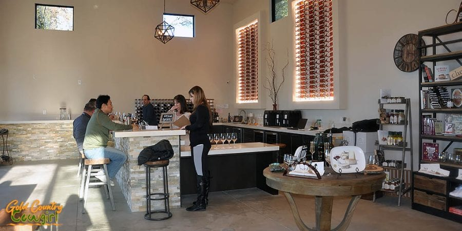 Sentivo Vineyards interior bar