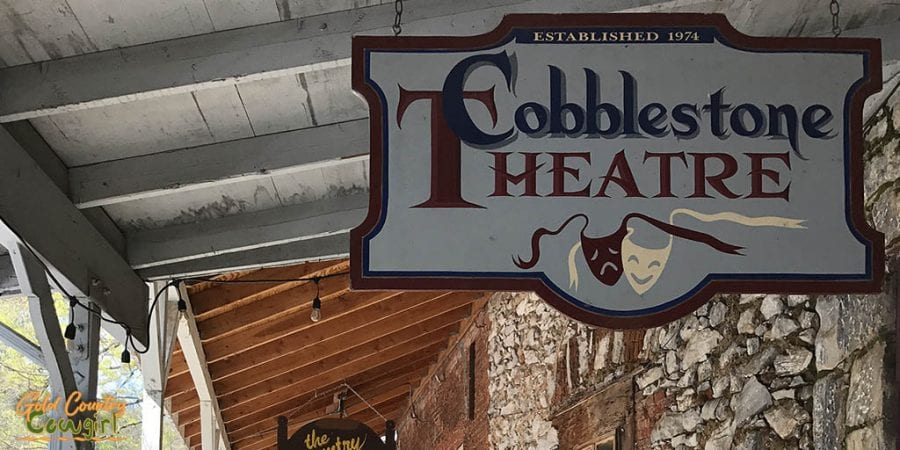 Cobblestone Theater sign