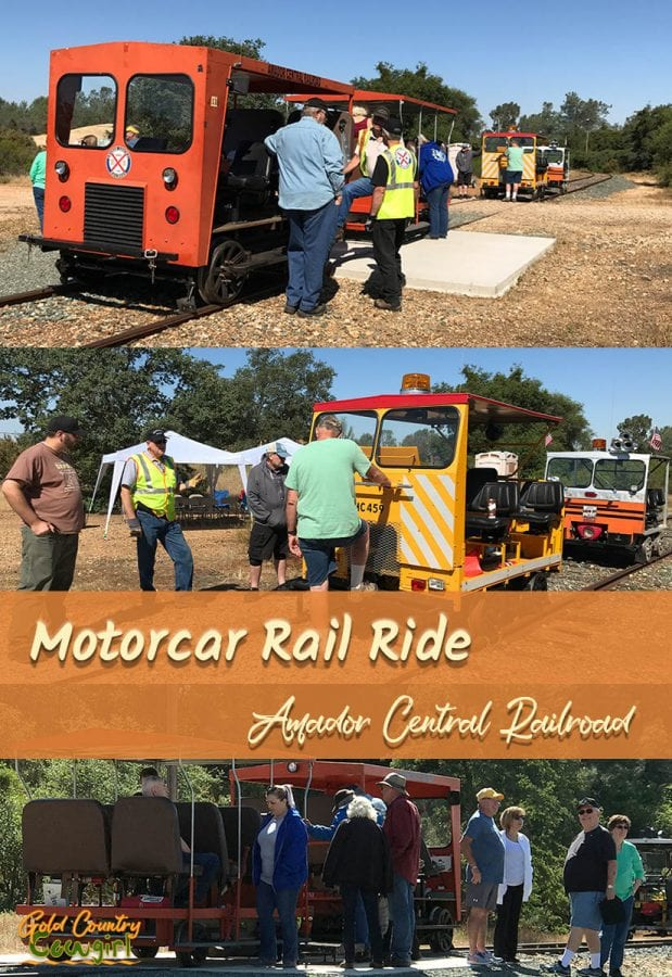 Take a motorcar ride in a vintage railroad maintenance-of-way work car in Ione, CA. You'll want to bring your camera for this 6 mile round trip ride into the beautiful foothills of Gold Country.