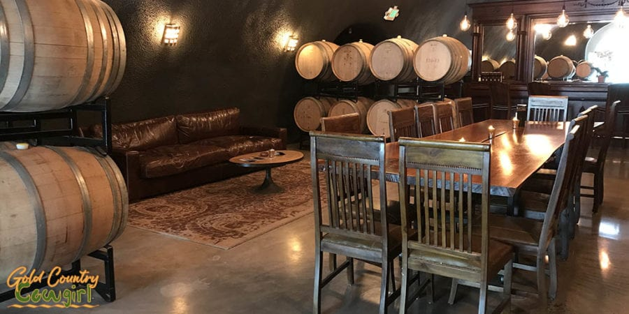 E16 Winery -- New Tasting Room in Somerset, CA - cave