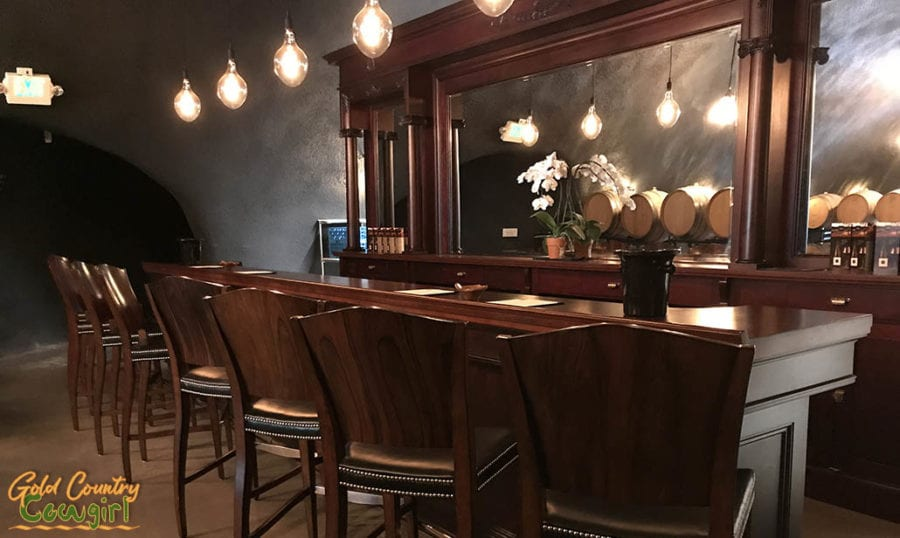 E16 Winery -- New Tasting Room in Somerset, CA - cave bar
