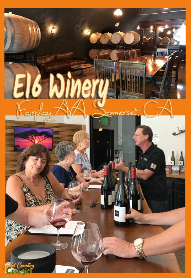The new E16 Winery tasting room in Somerset, CA, has an inviting ambiance, friendly staff and delicious wine from both the E16 and Firefall labels. El Dorado County | Gold Country | wine tasting | travel