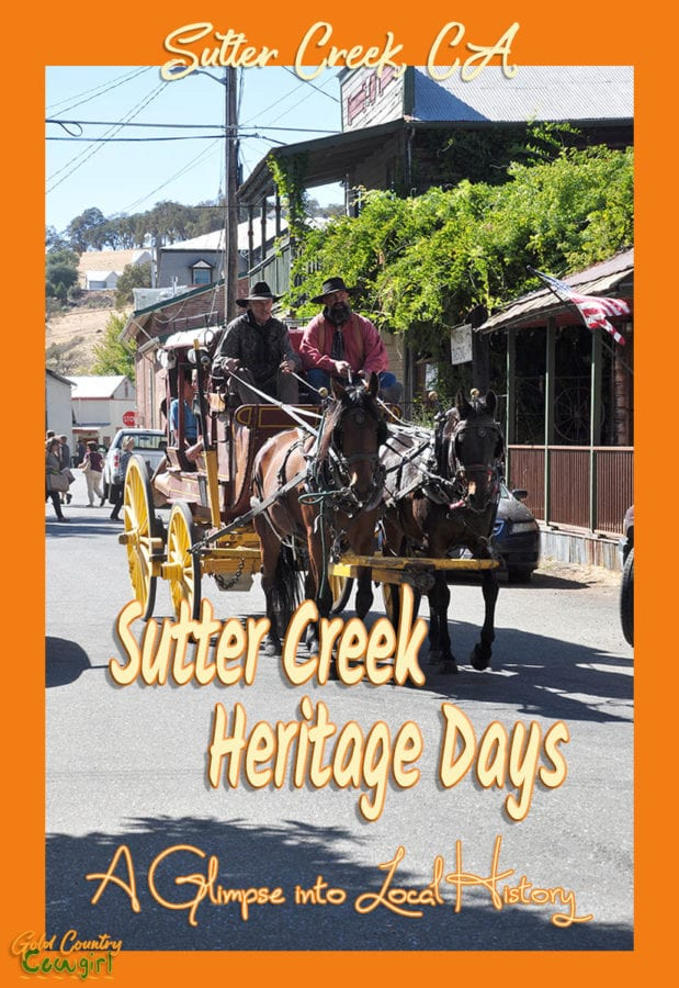Take a look at this post on Sutter Creek Heritage Days for a glimpse into the history of Sutter Creek, the gold rush era and the old West. Sutter Creek, CA | Amador County | travel | history