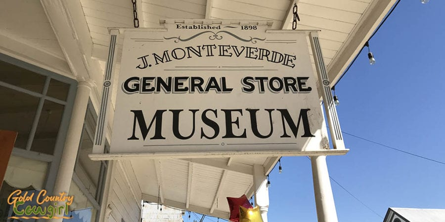 A Glimpse into Local History during Sutter Creek Heritage Days - Monteverde General Store Museum sign