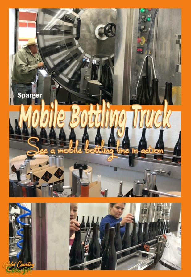 What do you do if you are a small, family-owned winery and don't have the room or don't want to invest in a bottling line? You hire a mobile bottling truck.