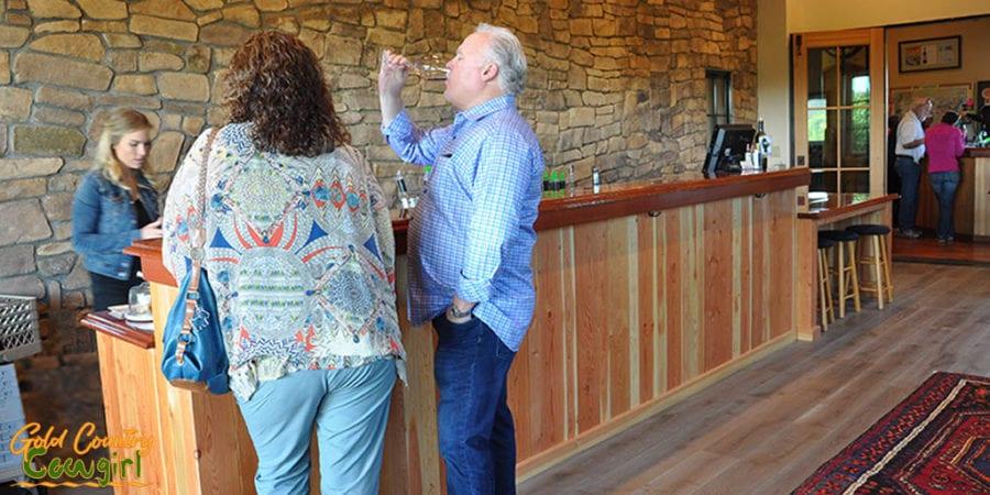Wine tasting at the new bar