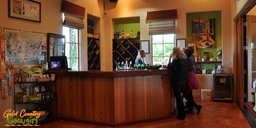 Original tasting room at Wilderotter Vineyard