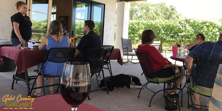 New back patio at Wilderotter Vineyard