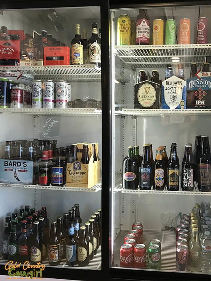 Bottled beer and soda