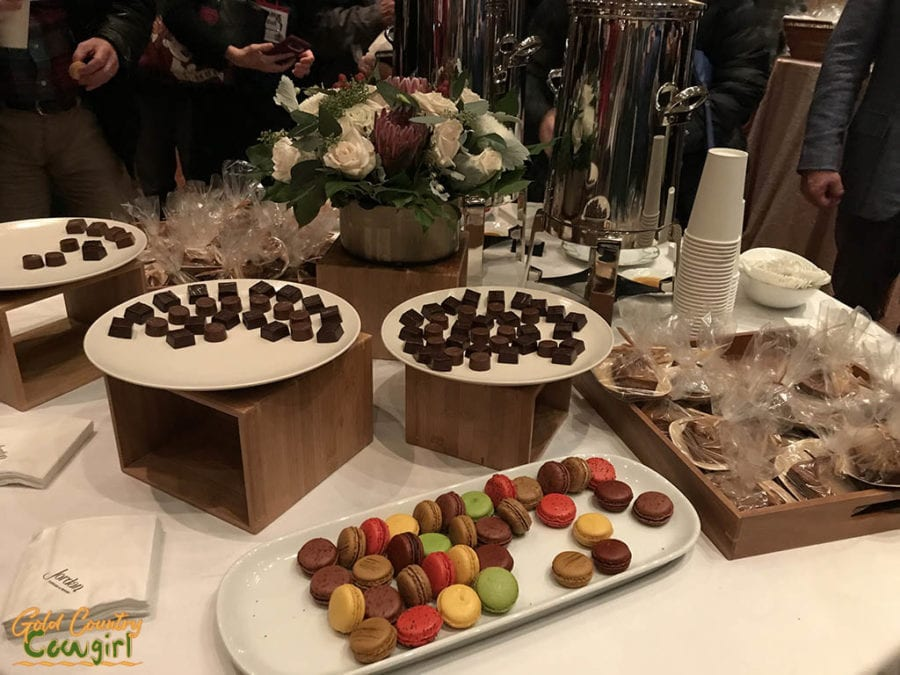 Dessert - macarons, truffles, gingerbread to go - Wine Bloggers Coferece food - Jordan Winery