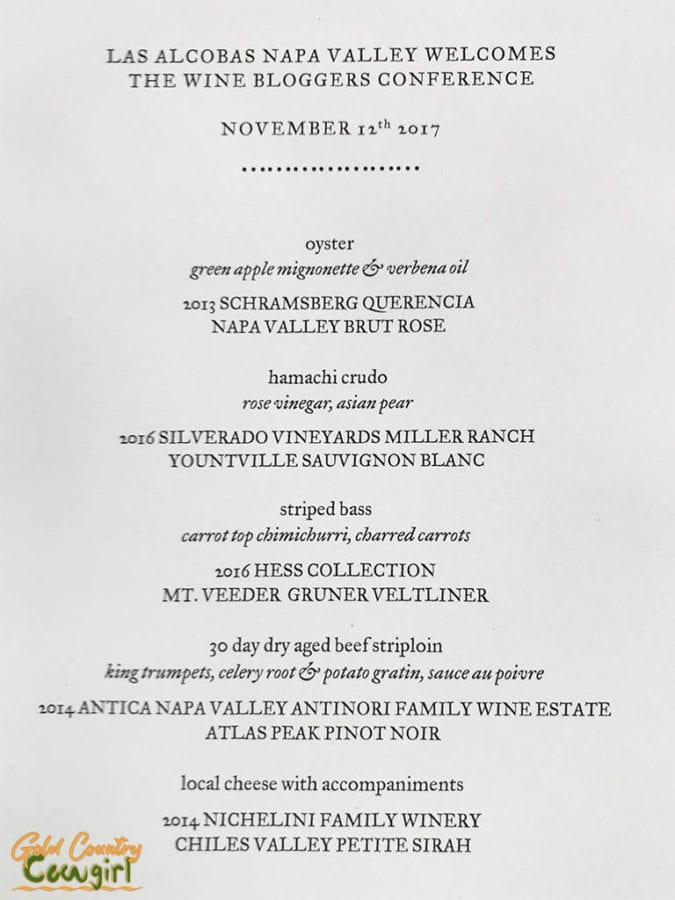 Los Alcobas menu
