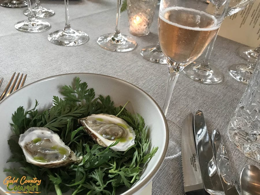 Oysters and Schramsberg