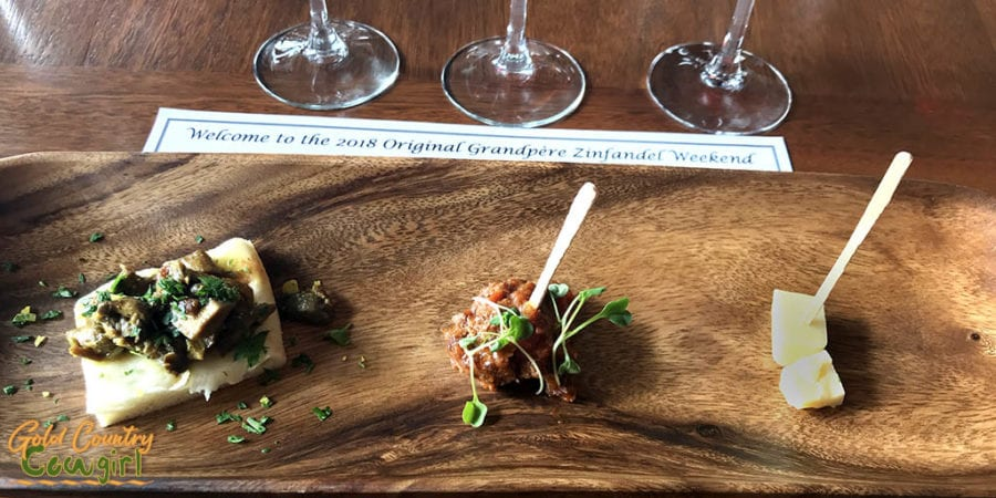 OGP Zinfandel Weekend, Shenandoah Valley, Plymouth, CA - Food pairing at Andis Wines