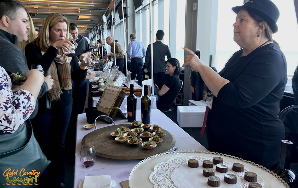Estate Chef Mary Roy of Capo Creek Ranch with BBQ Corn Cake Minis with Zinfandel Glaze