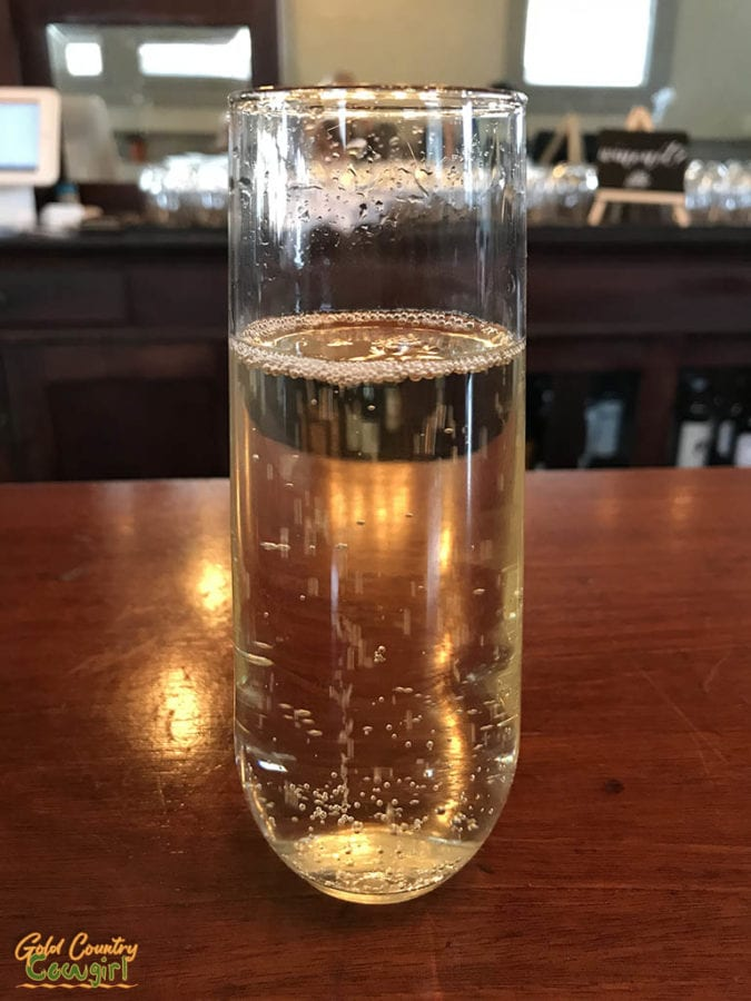 Prosecco at Small Town Wine Bar in California's Smallest Incorporated City